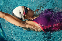 Swimmer backstroke action