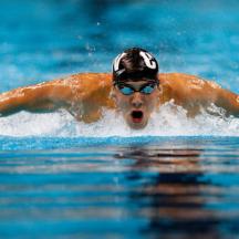 Swimmer's butterfly stroke
